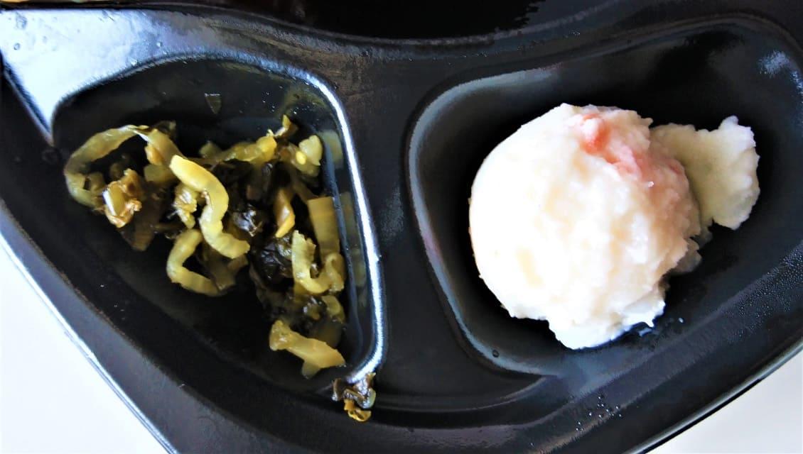 ポテサラと高菜