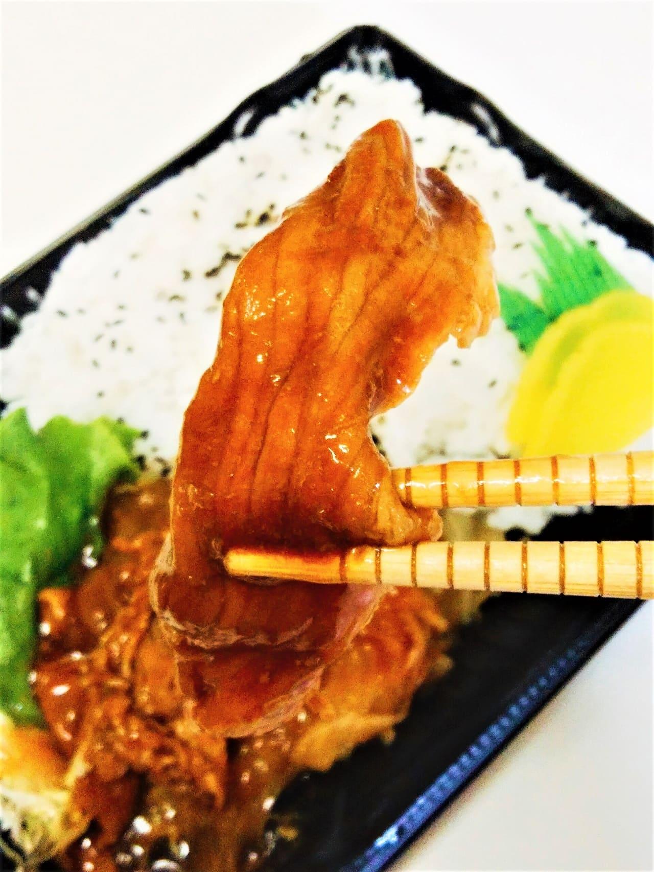 生姜焼きの豚肉アップ