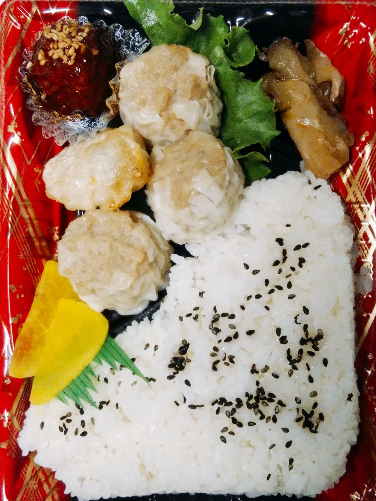 ベルクスの国産豚肉四川焼売の中華弁当
