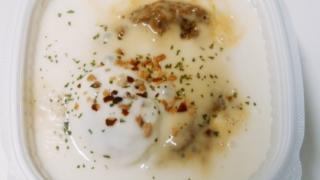 クワトロチーズソースの白いキーマカレー