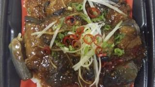 ピリ辛麻婆茄子丼